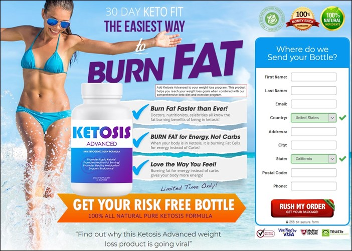 Ketosis Advanced - Order Form - USA Canada Australia UK - Lose Weight